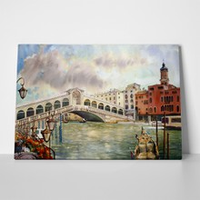 Rialto bridge venice watercolor 112743826 a