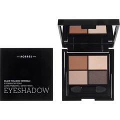 Korres Black Volcanics Minerals Eyeshadow Quad The Bare Nudes Παλέτα Σκιών 5gr