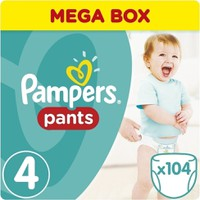 Pampers Pants Mega Pack No4 Midi (9-15kg) 104τεμ.