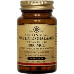 Solgar B12 Methylcobalamin 1000mcg 30nuggets