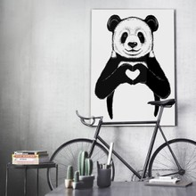 Panda love canvas