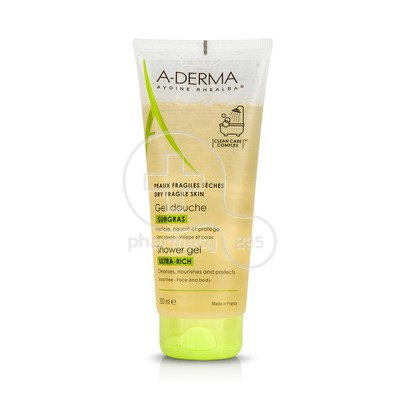 A DERMA - GEL DOUCHE SURGRAS Ultra-rich Shower Gel - 200ml