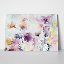 Watercolor abstract romantic purple flowers 653909113 a