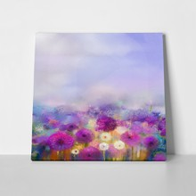 Oil painting purple white dandelion 350844452 a