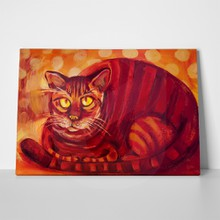 Painting illustration red cat 67864567 a