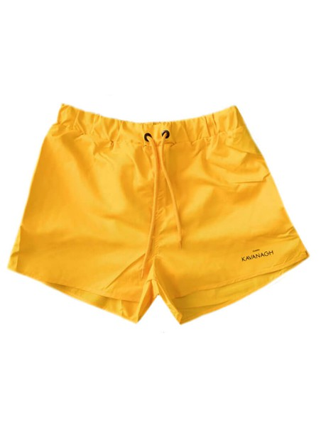 Gianni Kavanagh Yellow Swim Shorts With Side Tape