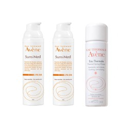 Avene Πακέτο  Sunsimed, 2x80ml + Δώρο Avene Eau Thermale Spring Water 50ml