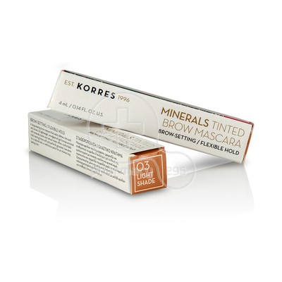 KORRES - MINERALS TINTED Brow Mascara 03 Light Shade