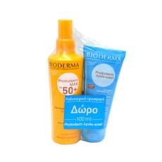 Bioderma Photoderm Max SPF50+ Αντηλιακό Spray Προσώπου - Σώματος 200ml + Δώρο Photoderm Apres-Soleil Refreshing After-Sun Milk 100ml.