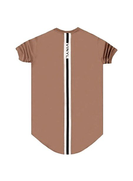 VINYL ART CLOTHING BROWN BACK LINE T-SHIRT
