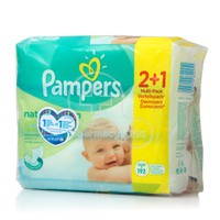 PAMPERS - Μωρομάντηλα Natural Clean - 3x64 (192τμχ)