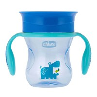 Chicco Perfect Cup Κύπελλο με Λαβές 12m+ 200ml Μπλε