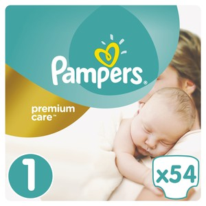 Pampers size no1 premium care   54s 8001090379429