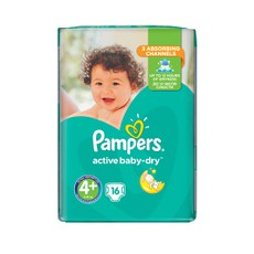 Pampers Active Baby Dry No 4+ 10-15Kg 16 Τμχ