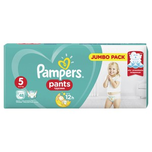 PAMPERS Pants up to 12h N5 12-17kg Jumbo pack 48τεμάχια