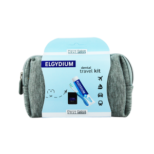 Elgydium dental travel kit grey