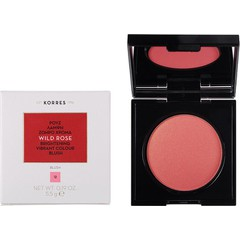 Korres Wild Rose Brightening Vibrant Colour Blush 12 Golden Pink - Ρουζ Άγριο Τριαντάφυλλο, 5.5g