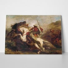 Delacroix collision of arab horsemen2