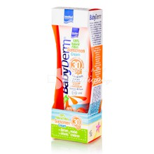 Intermed Babyderm - Sunscreen Cream SPF30 100% Natural Filters, 300ml
