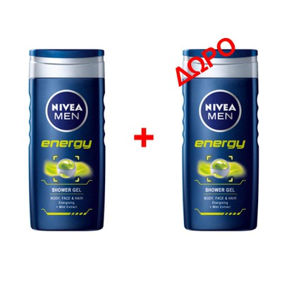 NIVEA - ENERGY Shower Gel - 500ml - 1+1 δώρο
