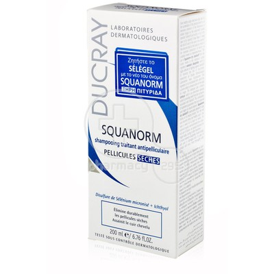 DUCRAY - SQUANORM Shampooing Traitant Antipelliculaire (Ξηρή Πιτυρίδα) - 200ml