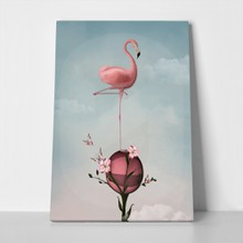 Surreal flamingo and lilies 345785021 a