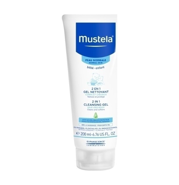 MUSTELA NORMAL SKIN 2IN1 CLEANSING GEL 200ML