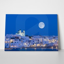 Full moon against paros 541562599 a