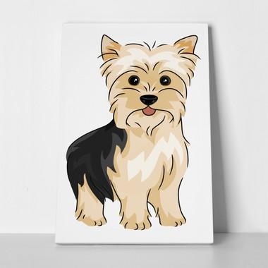Rectangular Canvas Print Yorkshire Terrier Illustration Dec0