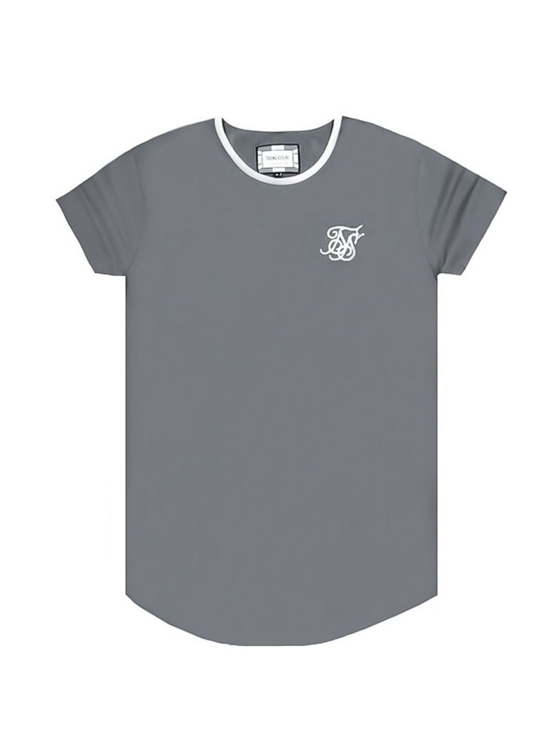 SikSilk S/S Ringer Gym Tee – Grey