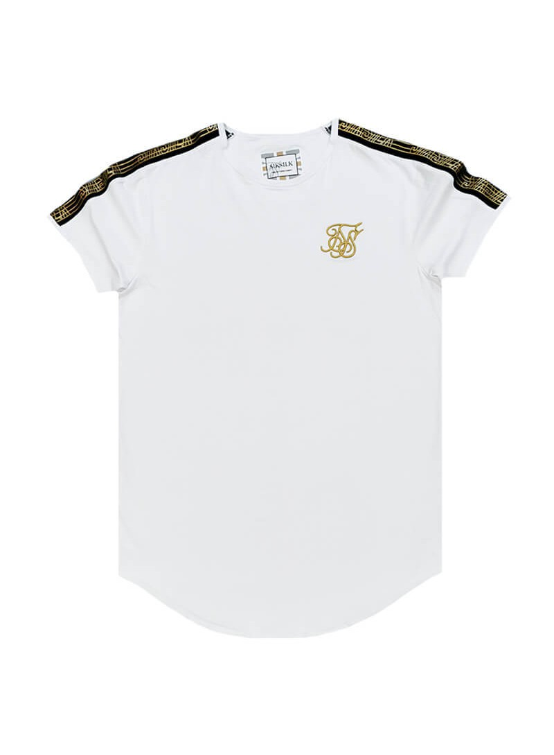 SikSilk S/S Gold Edit Runner Gym Tee - White