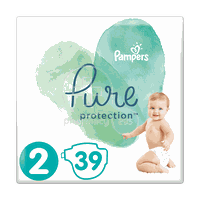 PAMPERS - PURE Protection No2 (4-8kg) - 39πάνες