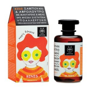 Apivita kids hair   body wash with tangerine   honey 250ml
