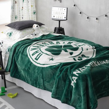Κουβέρτα Βελουτέ Μονή (160x220) Panathinaikos FC 1908 Velour Official Team Licenced