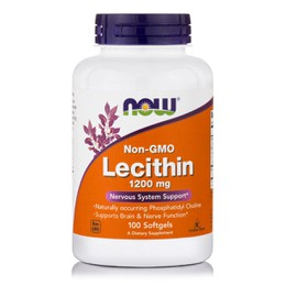 Now Lecithin 1200 mg, Non GMO, 100 softgels