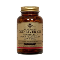 SOLGAR COD LIVER OIL 100SOFTGELS