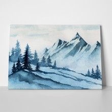 Winter mountains watercolor 324131654 a