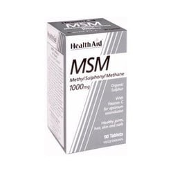 Health Aid MSM 1000mg with Vitamin C 90tabs