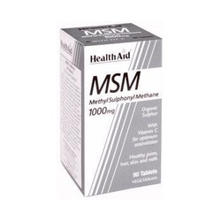 Health Aid MSM 1000mg With Vitamin C - Οργανικό θείο (90 tabs)