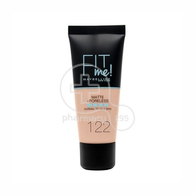 MAYBELLINE - FIT ME Matte & Poreless Foundation No122 (Creamy Beige) - 30ml