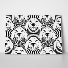 Dog pattern labrador retriever 690459133 a