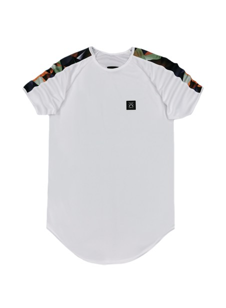 VINYL ART CLOTHING COLOR BLOCKING STRIPE T-SHIRT