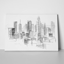 Pencil city with skyscrapers 98511128 a