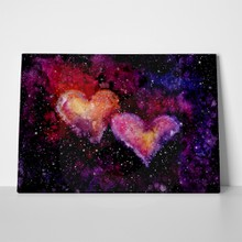 Watercolor bright space hearts 534844966 a