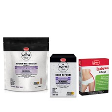 Lanes PROMO PACK The Active Club Reform Whey Protein με Moringa 750g & The Active Club Body Reform Moringa 30Caps & Kcaligram 7 Days Συμπλήρωμα Διατροφής 14 Δισκία.
