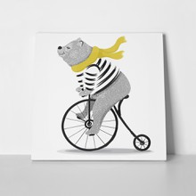 Animal illustration bear cycle 789184459 a