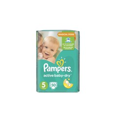 Pampers Active Baby-Dry Diapers Size 5 (11-18kg) 50 picies