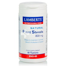 Lamberts NATURAL PLANT STEROLS 800mg - Χοληστερίνη, 60tabs