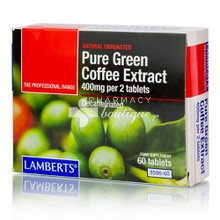Lamberts Pure Green Coffee Extract 400mg - Αδυνάτισμα, 60tabs