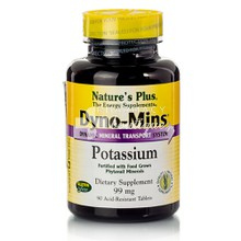 Nature's Plus Dyno-Mins POTASSIUM 99mg - Κάλιο, 90 tabs